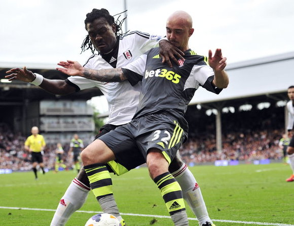 Derek Boateng in action for Fulham.