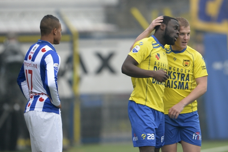 Elvis Manu scored his third goal of the season at Cambuur