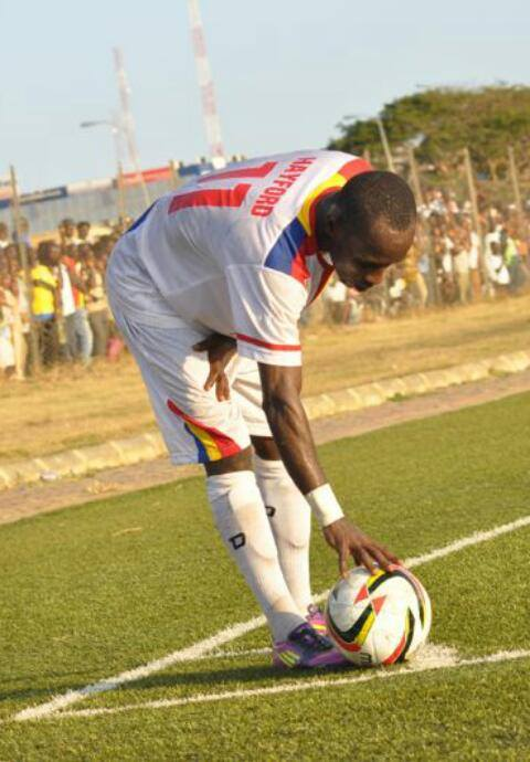Emmanuel Hayford scored the only goal of the game for Hearts of Oak