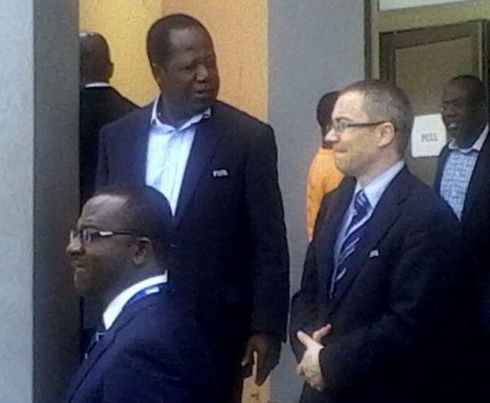 FIFA delegation in Ghana