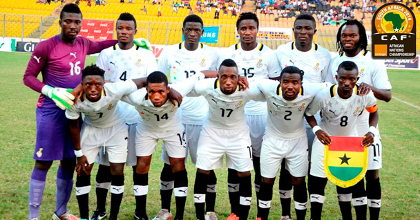 Ghana's players at the 2014 CHAN tournament