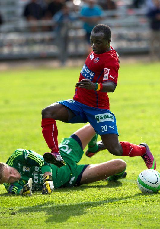 Ghanaian youth international Emma Boateng scored a brace for Helsingborg