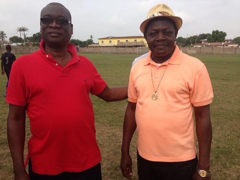Dr KK Sarpong (left) and Bechem president Kingsley Owusu Achau