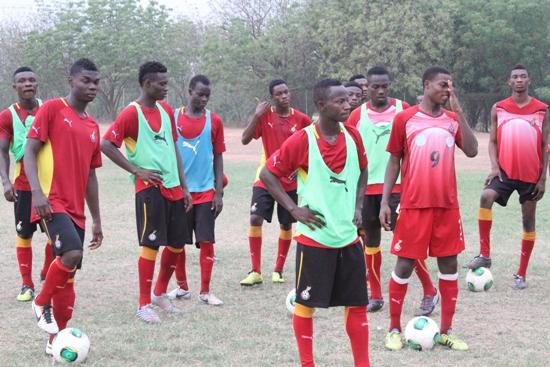 Trialists in Ghana U20 camp