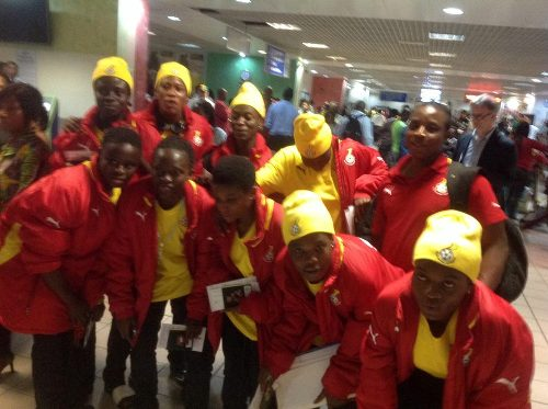 Ghana U17 women's team left Accra on Wednesday night