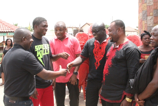 Maxwell Konadu with friends before the ceremony