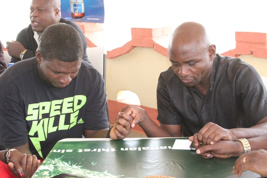 Kwame Ayew shared a prayer with Maxwell Konadu