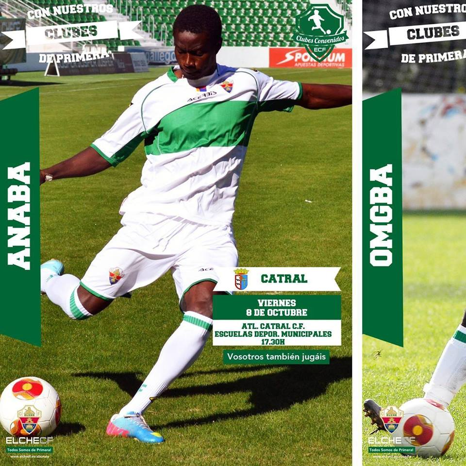 Michael Anaba is waiting patiently for his time at Elche