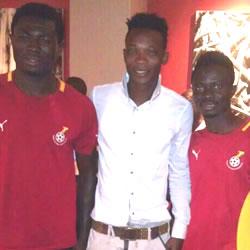 John Pantsil and Kwabena Adusei (left) and Richard Mpong (right).