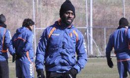 Quincy Owusu-Abeyie during training Real Valladolid on Monday.