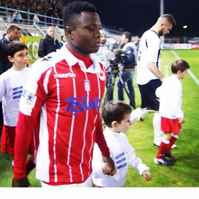 Samuel Inkoom was in action for Platanias when they lost in the Greece Super League
