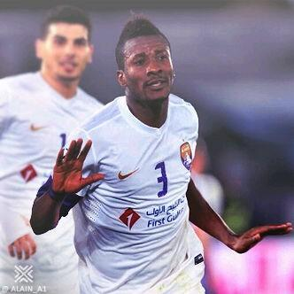 Ghana captain Asamoah Gyan scored a thunderous winner and helped to set up another goal, helping Al Ain to defeat mega-spending Qatari club Lekhwiya 2-1 in the Asian Champions League in the UAE on Wednesday night.