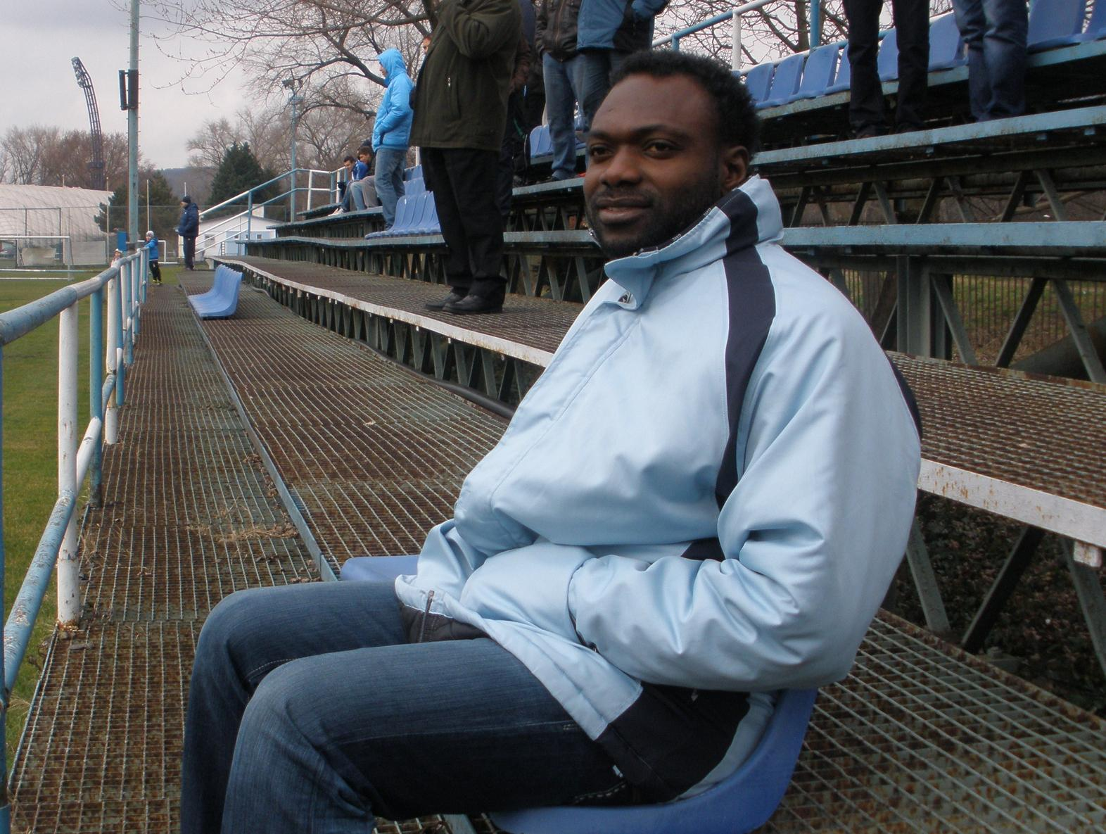 John Mensah watching Nitra's game