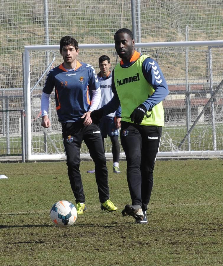 Entrenamiento del Real Valladolid. Primer de Quincy. R Otazo