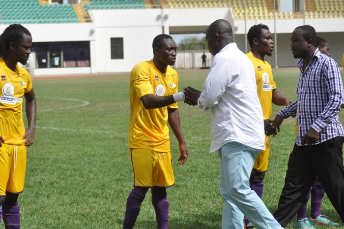Moses Armah and right-back Samuel Adade