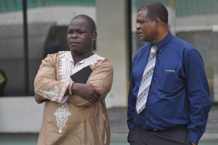 Nigerian match commissioner (right)