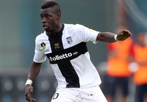 Afriyie Acquah set up the second goal for Parma against AC Milan