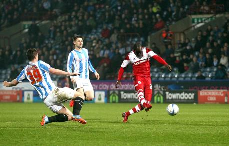 Albert Adomah firing home his first goal