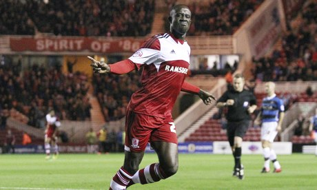 Albert Adomah scored for Middlesbrough against Brighton