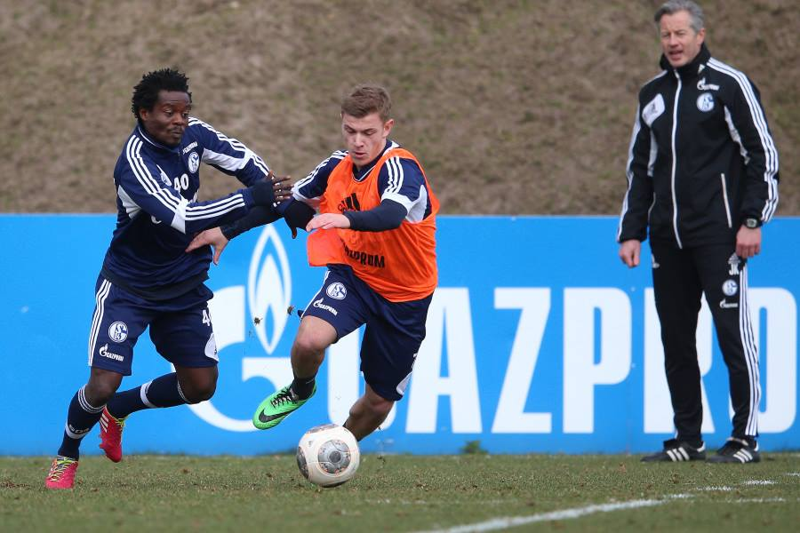 Anthony Annan returned to warmed the bench for Schalke in victory over Hoffenheim