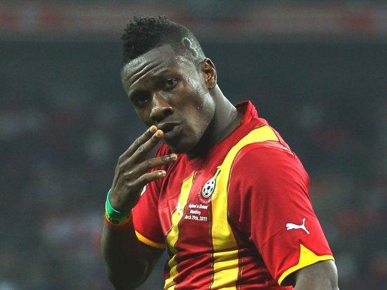 Asamoah Gyan will lead Ghana in Brazil