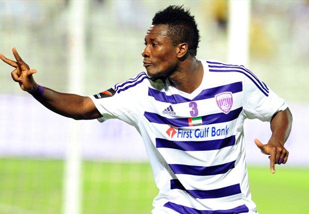 Asamoah Gyan scored a brace for Al Ain