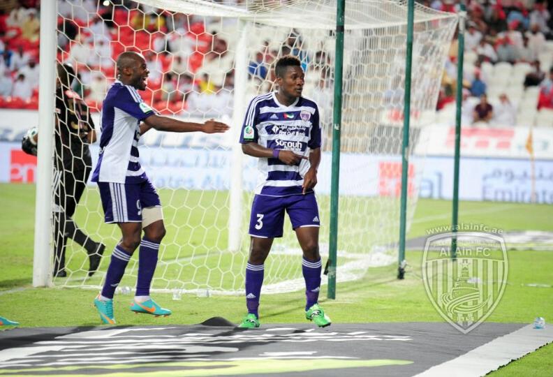 Asamoah Gyan scored for Al Ain
