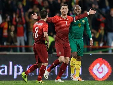 Cristiano Ronaldo hit a brace against Cameroon