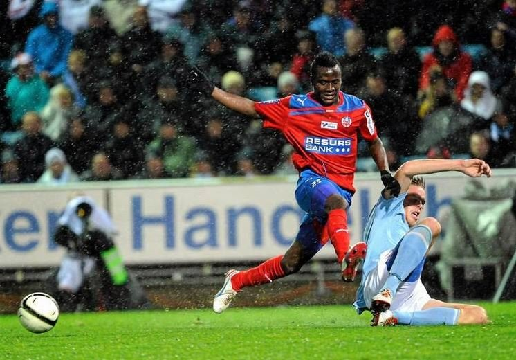 David Accam got on target for Helsingborg in the Swedish Cup