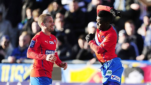 David Accam scored the game-winning goal for Helsingborg on Saturday