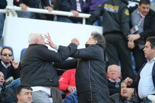 Dinamo Zagreb's owner in a scuffle