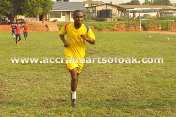 Edikeu Berenger is now eligible to play for Hearts of Oak.