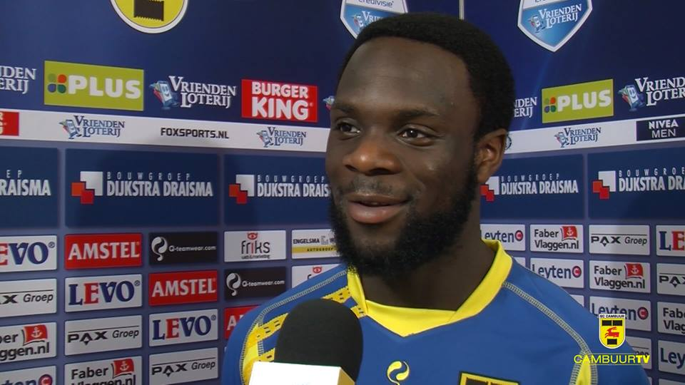 Elvis Manu has given Cambuur fans hope of playing in next season's Europa League
