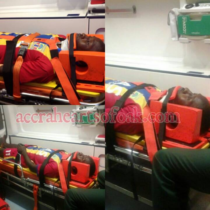 Emmanuel Hayford in a dire state as he was being rushed to hospital for medical attention