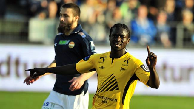 Ernest Asante scored twice for IK Start