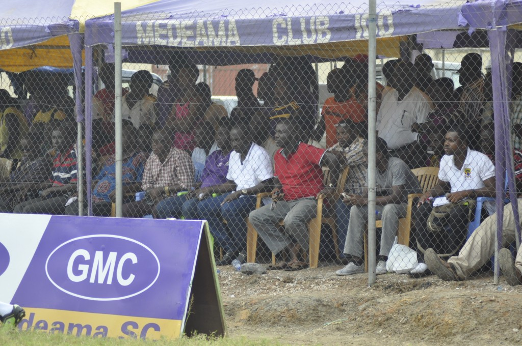 Fans at the Tarkwa T&A Park.