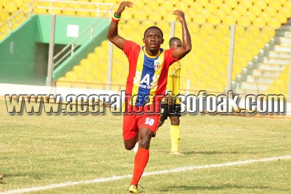 Gerald Wellington is keen to work harder and score more goals for Hearts of Oak