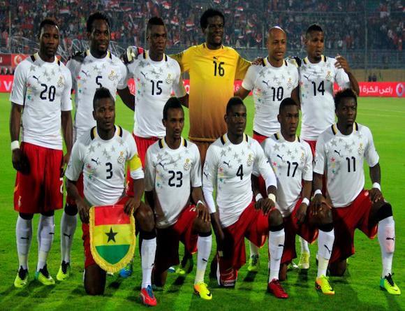 Ghana's line-up against Egypt in Cairo.