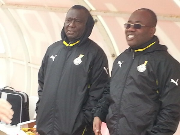 Ghana FA boss Kwesi Nyantakyi and Executive Committee member Felix Ansong