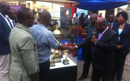 Ghana FA receives new Premier League trophy from headline sponsors First Capital Plus Bank