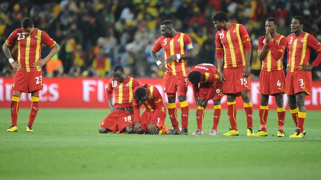 Ghana lost on penalties to Uruguay in the quarter-finals of the last World Cup in South Africa