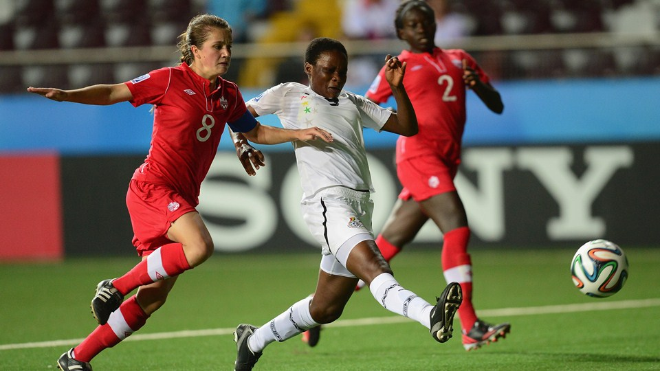 Ghana lost 2-1 to Canada