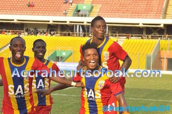 Hearts of Oak beat Amidaus Professionals 3-0 on Sunday