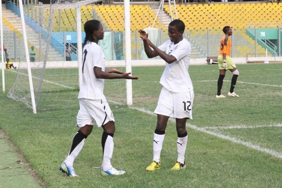 Ghana Black Queens in goal celebration