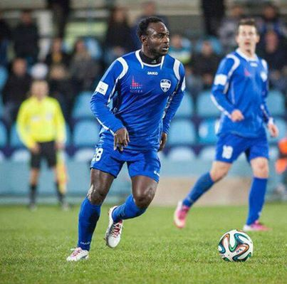 John Mensah in action for FC Nitra FC