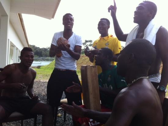 Joseph Langabel in full force with the Black Stars team