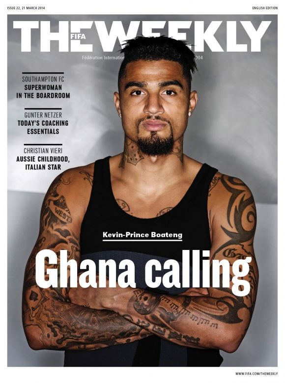 Ghana midfielder Kevin-Prince Boateng was featured on the frontpage of this week's FIFA Weekly magazine with an exclusive interview with the Schalke utility player.