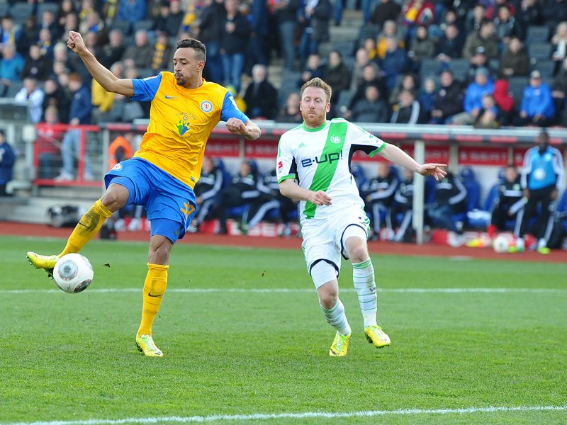 Karim Bellarabi hammering the ball home