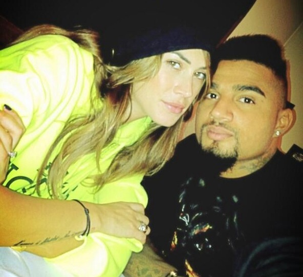 Kevin-Prince Boateng with his sweetheart Melissa Satta