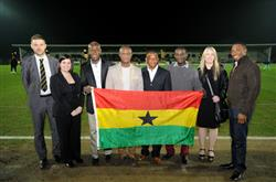 Ghana coach Kwesi Appiah has spent some of his time in England to support a football charitable organisation who are due in Ghana in the summer to support local school.